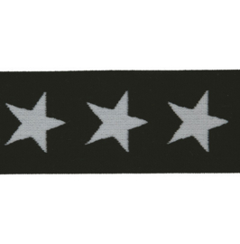 Elastiek  | 4 cm breed | Zwart - Wit