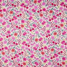 Katoen Print | Flowers | Pink - Red  033