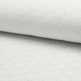 Katoen Broderie  de Luxe | Optical White  - 450