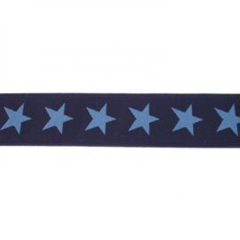 Elastiek  | 4 cm breed | Donkerblauw - Jeansblauw