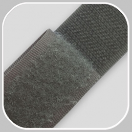 Klittenband   grijs breedte 20 mm