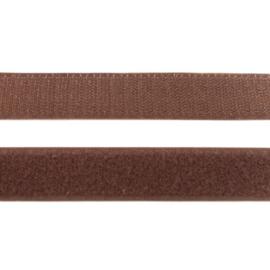 Klittenband | donkerbruin  breedte 20 mm