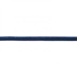 Paspelband elastisch   Donkerblauw