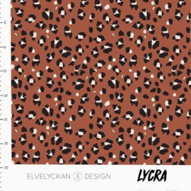 Elvelyckan design | Lycra - Lynx Dots - Terra