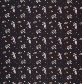 Katoen Print | Swafing -  Space Astronauts - Black