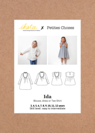 Ikatee Pattern | Ida |  blouse & dress - Girl 3/12