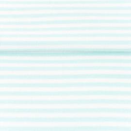 tricot boordstof streep | wit - mint