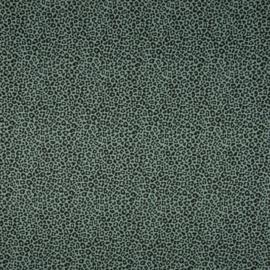 Katoen Print | Leopard - Dusty Green