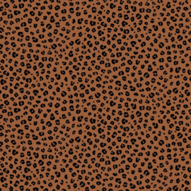 Katoen Poplin Print - Animal Skin - Terra