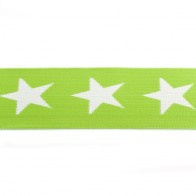 elastiek band- ster lime groen/ 4 cm