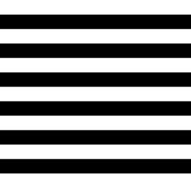 Katoen Poplin Print   Streep - Black