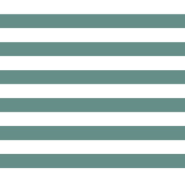 Katoen Poplin Print   Streep - Mint