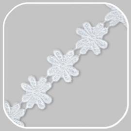 lint bloem wit groot/ 30 mm