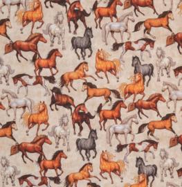 Katoen Print | Swafing -  Horses
