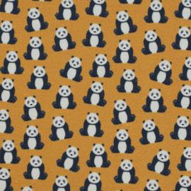 Katoen Print | Swafing -Pandabeer- Okergeel