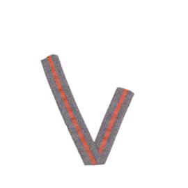 Band Streep | Grijs - Oranje | 1.5 cm