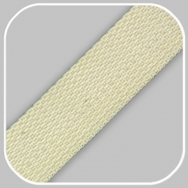 Tassenband Polypropylene   Creme -  25mm