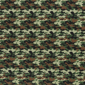 Katoen Print | Swafing -  Army  - Green