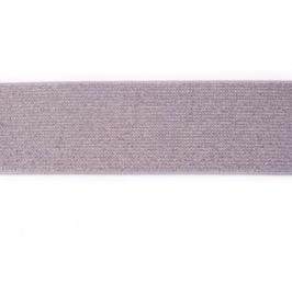 glitter elastiek | 40 mm | Zilver