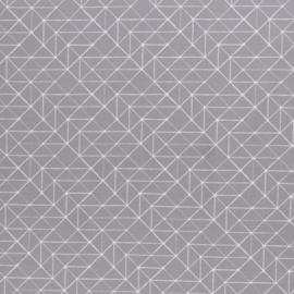 Katoen Print | Swafing -  Geometric  -  Grey