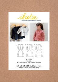 Ikatee |Vic unisex Cardigan - Kids 3/12Y - Paper Sewing Pattern