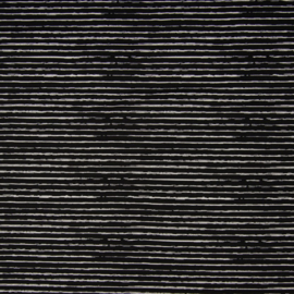 Katoen |Stripe - Black - White