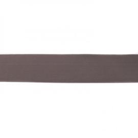 elastiek uni | 4 cm | taupe-donker