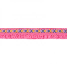 franjeband  ibiza style | fuchsia roze