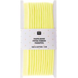 Paspelband katoen | Fluogeel | 3 meter | Rico - design