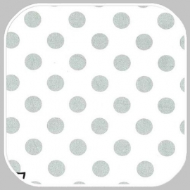 quarter dot pearlized- white silver   MC3744-PLAT-D