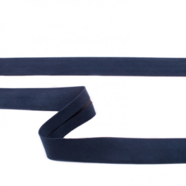 Suede Biaisband | Donkerblauw