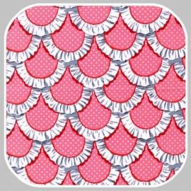 apron ruffles CX5896-PINK