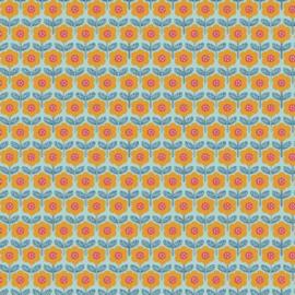 Katoen print | Feels like spring  | Flower - Light Blue