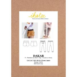 Ikatee Pattern - DAKAR pants or shortpants - Girl 3/12 - Paper Sewing Pattern
