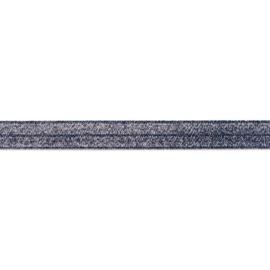 41089 elastisch  biaisband Donkerblauw  20 mm