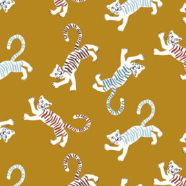 Tricot French Terry : Tiger - Ochre