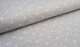 tricot jaquard | fantasiepatroon |grijs