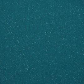 Tricot boordstof glitter | Petrol - 31151