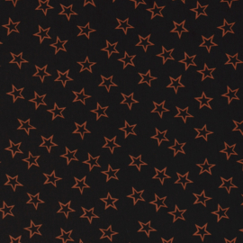 Viscose - Stars - Black Terra