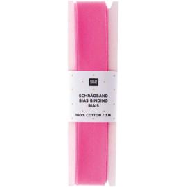 Biaisband | Neon roze | 3 meter | Rico - design