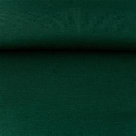 tricot boordstof uni | donkergroen