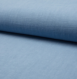 Linnen Stonewashed   Light Jeans Blue 002