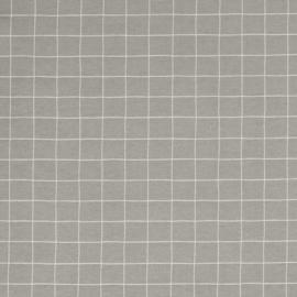 Decostof | Linnenlook - Ruit - Grey