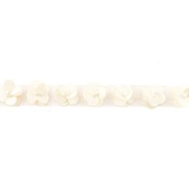 Paillettenband met kralen - Off White