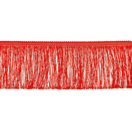 Franjeband  | 10 cm | Rood  - 32867