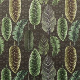 Velvet de Luxe | Bladmotief - Groen