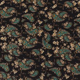 Viscose | Paisley Print - black