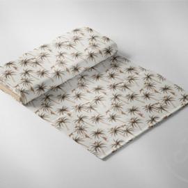 Family Fabrics | Tricot Print - Palms & Monkeys