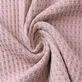 Cotton Knitted Waffle | Rose