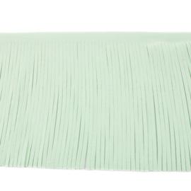 Suedine franjeband   Mint   12 cm breed
